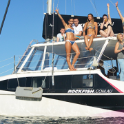The Rockfish crew have some fun on the Harbour
