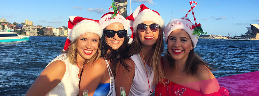 The Rockfish crew enjoy their Xmas party cruise on the harbour