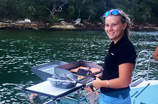 Jaymie our Rockfish deckhand
