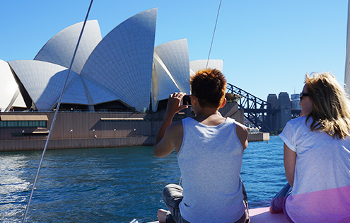 Cruise past Sydney Opera House on Rockfish Catamarans